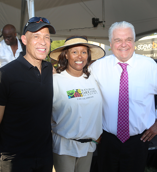Dr_anthony_and_diane_pollard_welcome_steve_sisolak_governor_candidate_juneteenth_celebration_2018