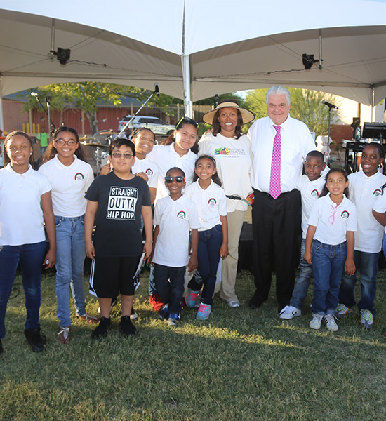 Steve_Sisolak_juneteenth_2018_rainbow_dreams_educational_foundation_visit