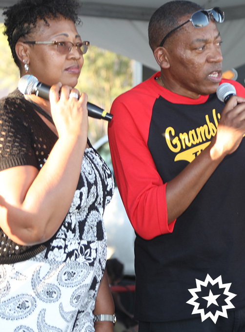 Clark County Commissioner Lawrence Weekly addresses crowd at las vegas juneteenth festival 2019